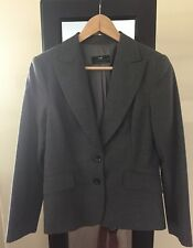 CUE Grey Blazer Jacket Size 12 New, Work Corporate
