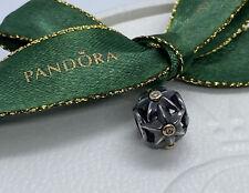 Pandora Oxidised Two Tone Silver 14 K Gold Genuine Ale Diamonds Charm 790856D