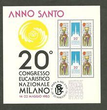 FOGLIETTO IPZS  1983 20° CONGRESSO EUCARISTICO NAZIONALE MILANO BOLLI NATURALI