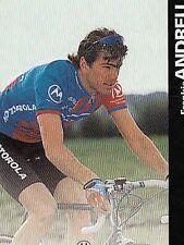 FRANKIE ANDREU cyclisme card carte Equipe Cycling Ciclismo Motorola 96
