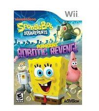 SpongeBob SquarePants Plankton's Robotic Revenge Nintendo Wii NEW sealed Game