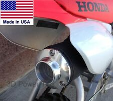 HONDA XR80 CRF80 XR100 CRF100 EXHAUST - 2D POWER TIP w/ SPARK ARRESTOR SCREEN