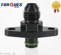 AN-6 (-6 JIC) Fuel Rail Adapter Fits Nissan S13 S14 SR20DET PULSAR GTS GTR BLACK