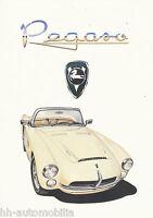 1 Pegaso Spyder Z 103 Replica Serra IAD Prospekt 1991 brochure prospectus Auto