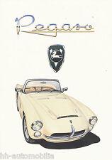 Pegaso Spyder Z 103 Replica Serra IAD Prospekt 1991 brochure Autoprospekt Auto