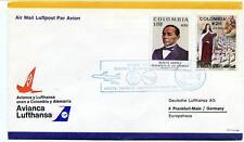 FFC 1973 Lufthansa First Flight Bogotà Caracas Las Palmas Frankfurt Colombia