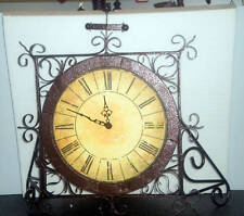 WROUGHT IRON WALL / MANTLE CLOCK