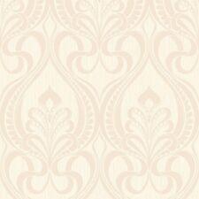 Art Nouveau Cream and Shimmer Gold Glitter Damask Feature Wallpaper 113003
