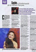 Coupure de presse Clipping 1996 Sapho  (1 page)