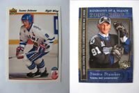 1991-92 Upper Deck #21 Selanne Teemu french RC Rookie  finland