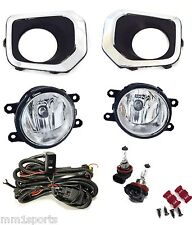 FOG LIGHT KIT FOR 2016-2018 TACOMA OE SPECS BLACK & CHROME BEZELS HARNESS BULBS