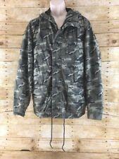 Cape Juby Camouflage Utility Parka Jacket Men Medium Military Hooded Aeropostale