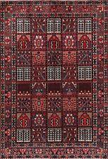 Garden Design Bakhtiari Oriental Area Rug Hand-Knotted Living Room Carpet 7'x10'