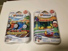 Vtech V. Smile Motion Handy Manny & Thomas Train Lot of 2, Learning Games, New