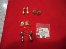 Fashion ladies lot of piereced earrings and baseball charm ,LC, Danecraft?, Best