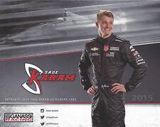 "2015 INDY 500 SAGE KARAM GANASSI RACING INDYCAR 8""X10"" HERO CARD"