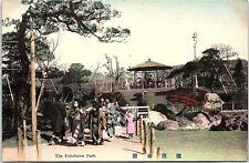 Postcard Japan The Yokohama Park Geishas Children V6