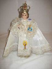 VINTAGE 1962 COLUMBIA ITALY INFANT OF PRAGUE RELIGIOUS STATUE METAL CROWN CAPE