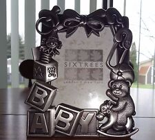 Baby Blocks 3 x 5 Pewter Picture Frame – Brand New