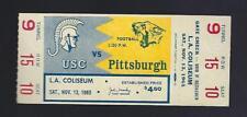 1965 NCAA PITTSBURGH PANTHERS @ USC TROJANS FOOTBALL FULL UNUSED TICKET