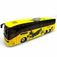 1:50 Diecast Metal Alloy Bus Toys for Kids with Openable Doors/Music/Light