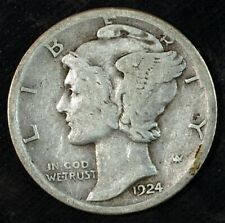 1924 S Mercury Silver Dime ☆☆ Circulated ☆☆ Great Set Filler 648
