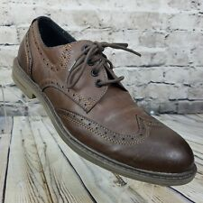 Calvin Klein Jeans Milo BROWN Wing Tip Oxford Casual Lace Up Dress Shoe Size 10M