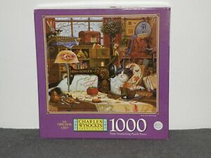"""Charles Wysocki 1000 Pc Puzzle """"Sew, Sew Relaxing"""""""