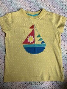 Frugi Spotty Yellow T-shirt 3-4 Years