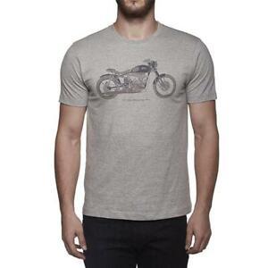 Royal Enfield Skunkworks Classic Custom Scrambler Retro Bike T Shirt Grey