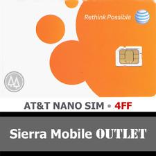 At&T Nano Sim Card 4Ff • Gsm 4Glte • New Genuine Oem Prepaid or Postpaid Att