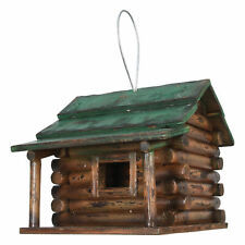 River's Edge Products Birdhouse - Wood Log Cabin