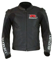 Suzuki R GSX Motorcycle Leather Jackets Men Motorbike Leather Jacket CE Approved