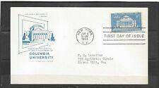1954 US House of Farnum FDC Scott #1029 Columbia University 200th Addressed