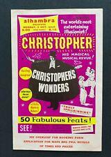 More details for 1960s alhambra bradford handbill, millbourne christopher, usa american magician
