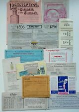Rare bundle - Pharmacy paper ephemera - blotters, instructions and adverts