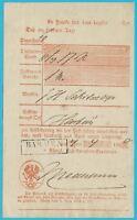 Postscheine Preußen Postschein der Königl. Postannahmeexpedition BARMEN 1860!
