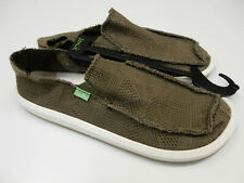 Sanuk Mens Sidewalk Surfers Yew-Knit Dark Olive Size 9