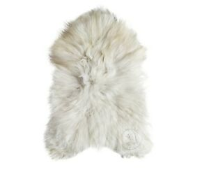 ICELANDIC SHEEPSKIN NATURAL WHITE RUG, 100% NATURAL