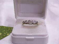 GELBGOLD-BRILLANT-/DIAMANT-RING: 750er/18 KARAT GOLD & PLATIN: ALTSCHLIFF:0,35ct