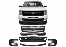 Replacement Front Bumper Grill Combo For 2007-2013 Chevrolet Silverado New USA