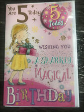 Girl 5 years  birthday card