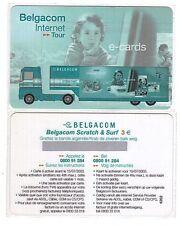 Belgium - Belgacom Internet Tour - Scratch & Surf 3 Euro - Neuve RARE