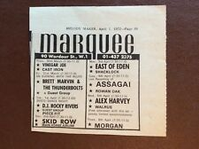 G1m ephemera 1972 advert marquee vinegar joe skid row alex harvey