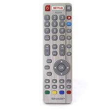 Genuine Sharp Aquos RF Smart TV Remote Control with NETFLIX NET+ YouTube Buttons