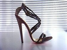 MORI MADE IN ITALY SANDALS SANDALETTE SANDALI SCHUHE LEATHER BROWN MARRONE 45