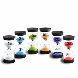 Sanduhren mit 6 Farben Sanduhrenset 1Min/ 3Min/ 5Min/ 10Min/ 15Min/ 30Min