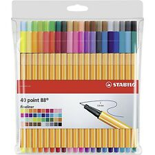 STABILO Point 88 Fineliner Penne a sfera-COLORI ASSORTITI ART Astuccio da 40