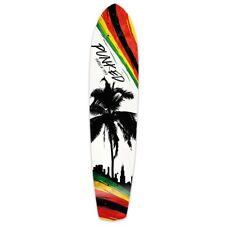 Yocaher Slimkick Longboard Deck - Palm City Rasta