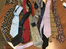 Lot of 14 Men's Neck Ties Name Brands Included Different Designs Act7